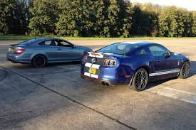 lexus vs mercedes race ford mustang shelby gt500 vs mercedes c63 amg coupe drag race