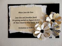 handmade save the date cards for vintage weddings google search