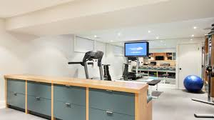 Home Gym Decorating Ideas Photos Contemporary Basement Home Gym And Office Best Home Gym
