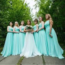 cheap mint green chiffon bridesmaid dresses 2018 summer a line