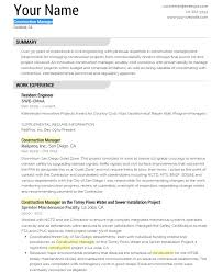 Construction Superintendent Resume Samples by Construction Resume Templates