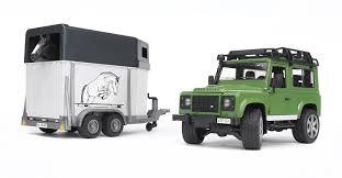 matchbox land rover defender 110 bruder land rover defender station wagon with horse trailer and