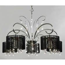 Small Black Chandelier Chandelier Glamorous Black And Crystal Chandeliers Marvellous