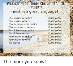 Finnish Language Meme - everything you need to knowaboutfinnish language finnish is a great