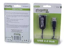 Compact Design Amazon Com Plugable Usb 2 0 2 Port High Speed Ultra Compact Hub