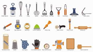 kitchen tools with names