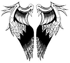 angel wings tattoo design on back body in 2017 real photo