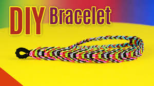bracelet knots youtube images Diy rainbow fishbone bracelet square knot weave tutorial jpg