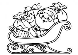 christmas elves cleaning santa claus u0027 sleigh coloring