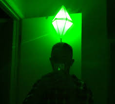 Light Up Stick Figure Halloween Costume Led Light Up Sims Plumbbob Costume That Green Pylon Above Their