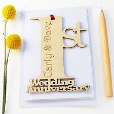 personalised wedding anniversary card by hickory dickory designs