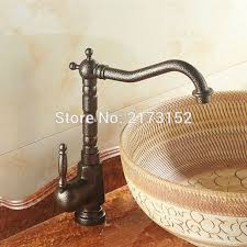 Luxury Tall European Antique Bronze Bathroom Sink Mixer Tap Long Antique Bronze Bathroom Fixtures