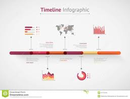 World Map Timeline by Timeline Infographic World Map Stock Vector Image 51772210