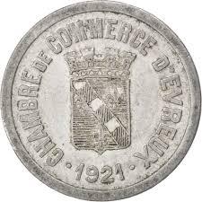 chambre du commerce evreux 85564 evreux chambre de commerce 25 centimes 1921 elie 10 3 ttb