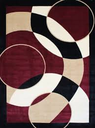 Modern Style Area Rugs 1052 Burgundy 5 2x7 2 Area Rugs Modern Contemporary