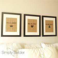 How To Hang Prints Burlap Art In Bedroom Love The Dates And Symbols For Master