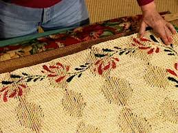Make Rug From Carpet How To Make A Fabric Rug Border How Tos Diy