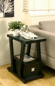 Narrow Accent Table Narrow End Table With Drawers Foter