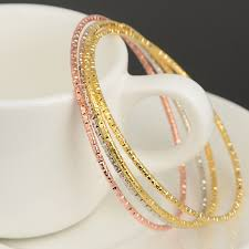 child bangle bracelet images 6pcs hot fashion alloy children golden bangles set bracelets jpg