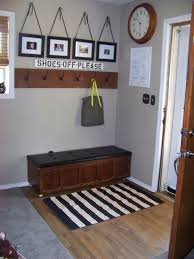 Home Entrance Decor Ideas Minimalist Stripe Black And White Pinterest Entryway Rugs Ideas