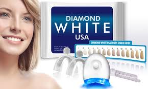 teeth whitening kit with led light diamondwhiteusa teeth whitening kit with led light groupon