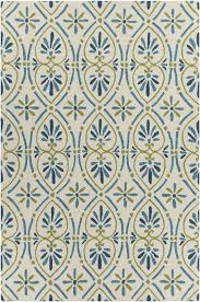 Blue And Green Outdoor Rug Terra Collection Tufted Area Rug In Blue Green