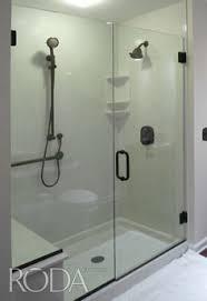 celesta shower doors roda by basco dresden collection door panel featuring notched