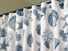 Seashell Fabric Shower Curtain Endearing Seashell Shower Curtains And Fabric Shower Curtain