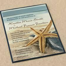 tropical themed wedding invitations starfish on the wedding invitation by willowglenstationery