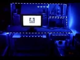 purple led lights for computers led lights for computer desk 300 led computer desk youtube ikea