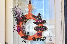 Witch Wreath Halloween by Diy Dollar Store Halloween Witch Wreath Annmarie John