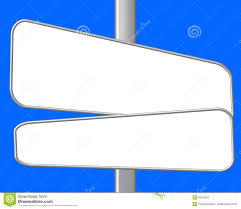 Blank Road Map Template by Blank Street Signs Stock Images Image 5552404