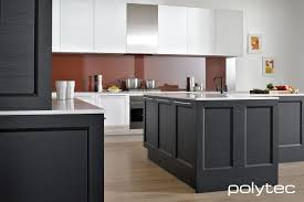 Overhead Kitchen Cabinets by Doors In Thermolaminated 21mm Manchester In Black Natura And White