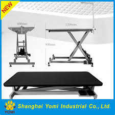 large dog grooming table yomi glorious foldable plastic top electric pet grooming table buy