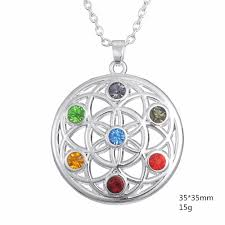 skyrim pendant necklace images 7 chakra crystal flower of life buddha pendant necklace free jpg