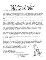 memorial day free worksheet squarehead teachers