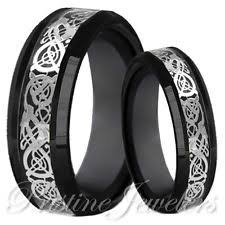 black wedding sets celtic wedding band sets ebay