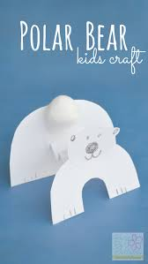 polar bear kids craft to celebrate international polar bear day