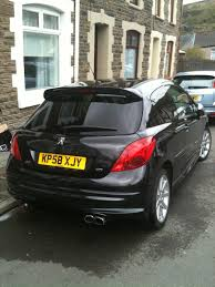 black peugeot for sale peugeot 207 gti thp 175 58 plate onyx black 7 995 00