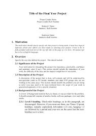 how to write a paper with subheadings proposal format