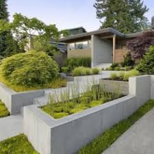 poured concrete retaining wall design yard ideas pinterest