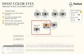 how to choose colors baby eye color calculator eye color predictor