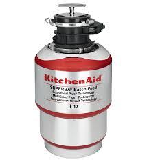 broyeur evier cuisine broyeur à déchets à traitement par lot kitchenaid de 1 hp