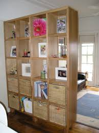 bookcase room dividers hall asian with built in wall shelves