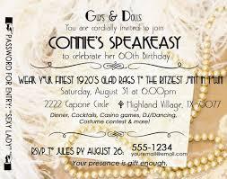 gatsby roaring 20 u0027s speakeasy birthday invitation by edkstudio