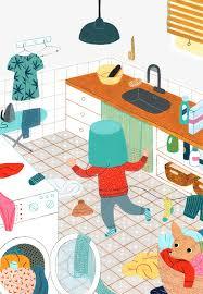 cuisine pour jouer la cuisine de jouer les enfants illustration peint à la l