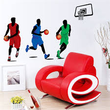 Sports Decals For Kids Rooms by Online Get Cheap Basketball Sticker Wall Aliexpress Com Alibaba