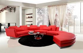Red Curved Sofa by Modern Contemporary Circle Sectional Sofa