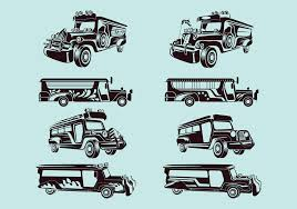 jeep front silhouette philippine jeep icon or jeepney front view download free vector