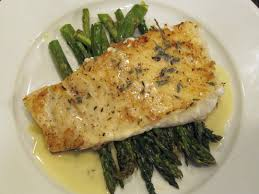 lemon beurre blanc recipe pan seared halibut with roasted asparagus and a beurre blanc sauce